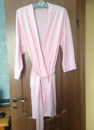 Пудровый  халат с запахом  marks&spencer р.20-22 4xl-5xl заходите и выбирайте!
