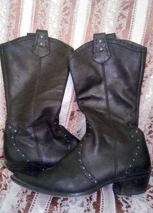"""Сапоги женские кожаные в стиле """"казаки"""" или ковбойские"""