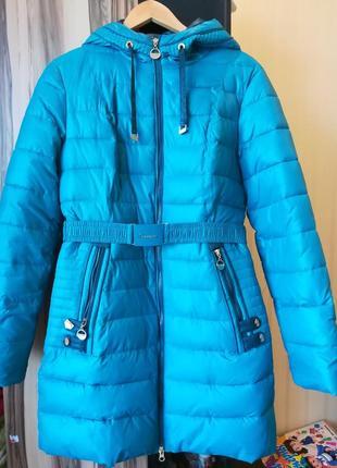 Зимняя курточка 46 размер цвет бирюза