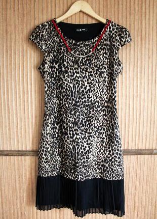 Актуальное леопардовое платье р. m pole&pole