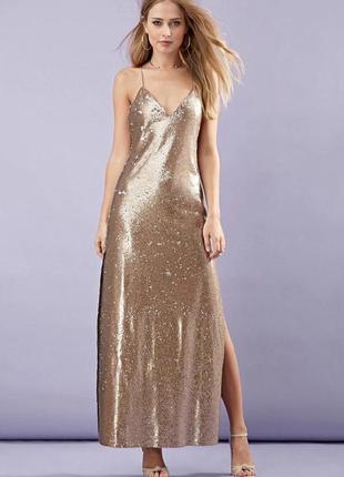 Вечернее платье в пайетки