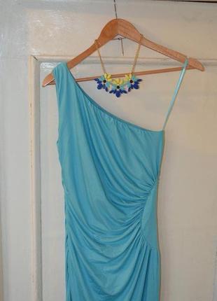 Длинное,бирюзовое платье
