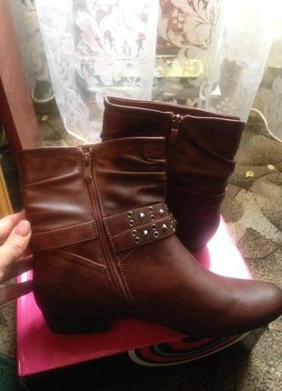 Новые зимние ботинки, кожзам