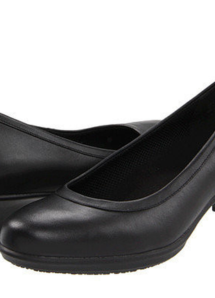 Кожаные туфли crocs (оригинал) 24 см