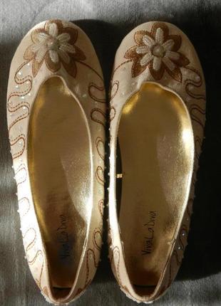 Обалденные льняные балетки