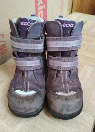 Зимние ботинки ecco gore-tex. размер 27.1