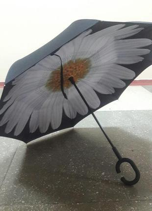 Новый зонт обратного сложения антиветер все цвета