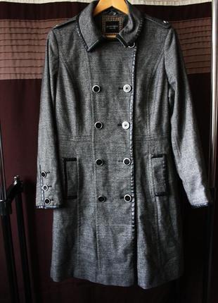 845f98146210 Sale! фирменное пальто полупальто с оконтовкой под кожу большой размер 50  52 54 плащ тренч