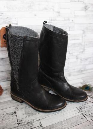 Сапоги кожаные ретро roxy чоботи шкіряні