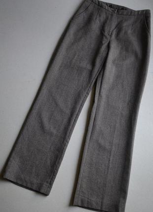 Шерстяные тёплые брюки р.m 100%шерсть  madelein