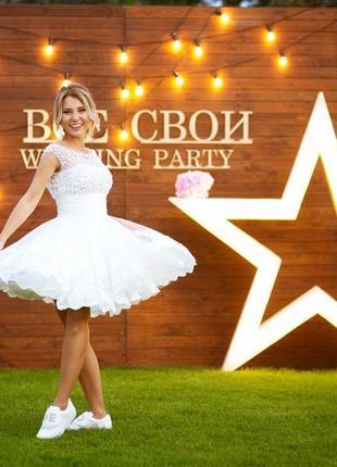 Свадебное коктейльное платье sherry hill