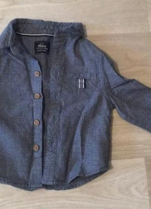 L.  рубашка rebel 9-12 мес. бу, состояние идеальное. цена 90 грн