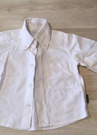 L.  рубашка белая плотная. размер 6м или 68 см. бу, состояние идеальное. цена 75 грн
