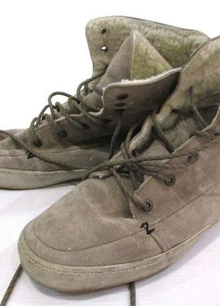 Фирменные теплые кеды ботиночки