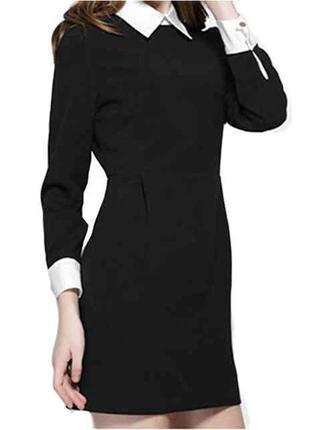 Платье mohito чёрное платье с воротничком