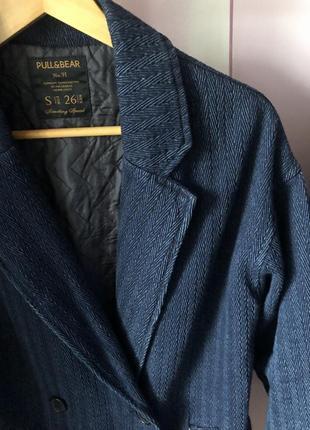 Классное пальто пиджак бойфренд pull&bear