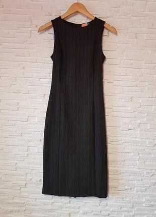 Платье футляр в деловом стиле полоска united colors of benetton