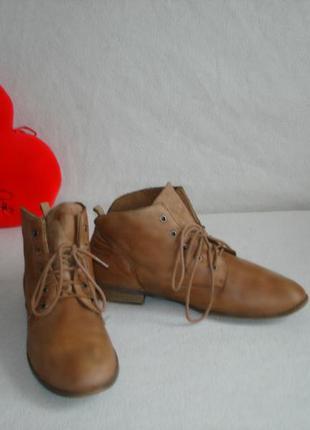 Кожаные демисезонные ботинки бренд tamaris