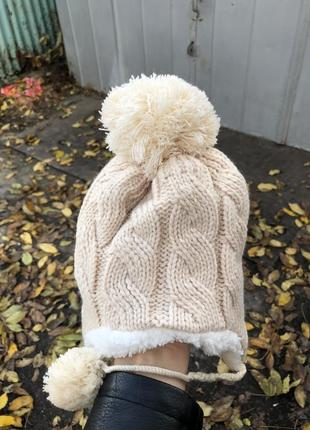 Детская зимняя тёплая шапка