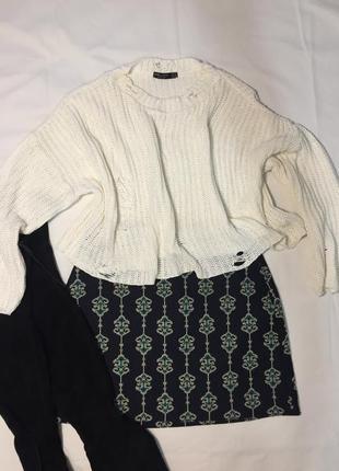 Укорочённый свитер bershka