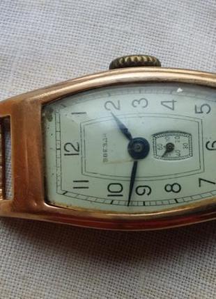Часы антикварные звезда 50-годов золотые