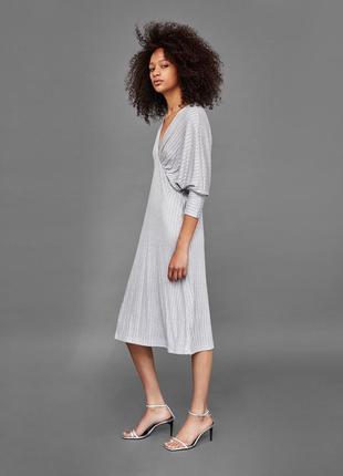 Платье миди с люрексом от zara