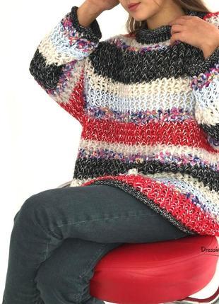 Объемный свитер крупной вязки denis tricot (италия)