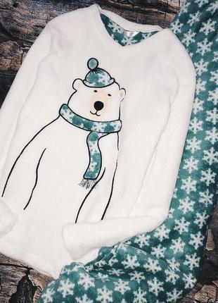 Теплая флисовая пижама на зиму m/l