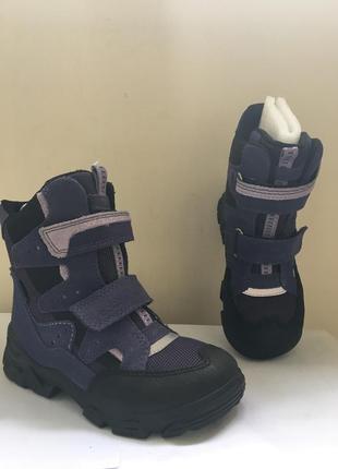 Ecco snowboarder р29 новые ботинки полусапоги на липучках детские унисекс