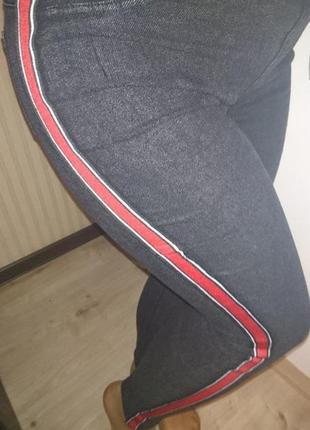 Стрейчевые джинсы ,лосины с лампасом на флисе , качество супер...42-54