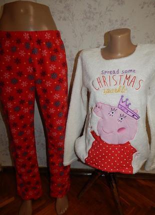 George пижама тёплая плюшевая кофта с флисовыми штанишками р8-10