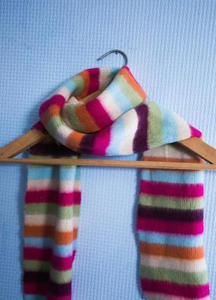 Веселый полосатый и теплый шарф)
