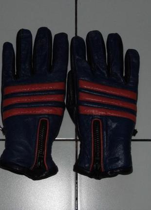 Кожаные перчатки зимние на молнии - 8 1/2 - натуральная кожа