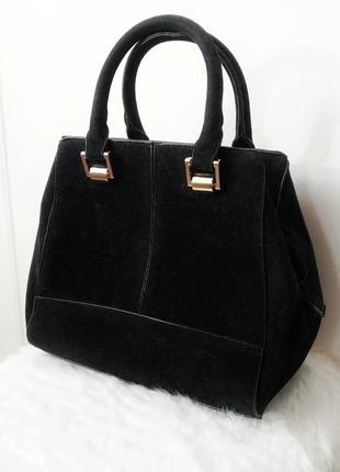 Чёрная замшевая сумка сумочка