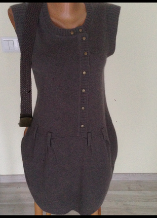 Платье 34-36 размер.с поясом. тёплое . туника фирменная . grain de malice. германия