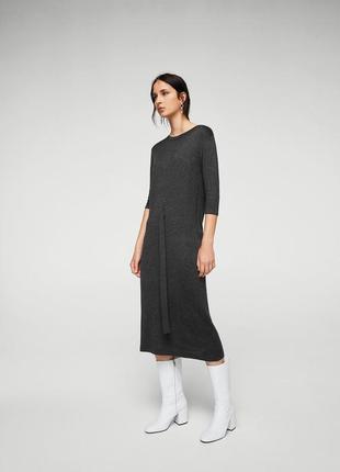 Платье миди трикотажное тонкое