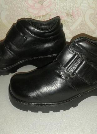 Кожаные туфли, полуботинки bama на подростка.