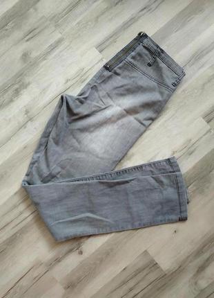 Трендовые серые джинсы с молнией сзади высокая талия
