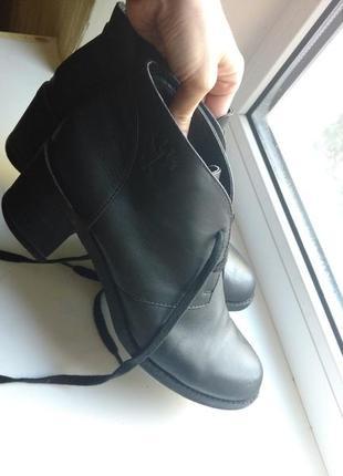 Ботинки натуральная кожа 24,5 см