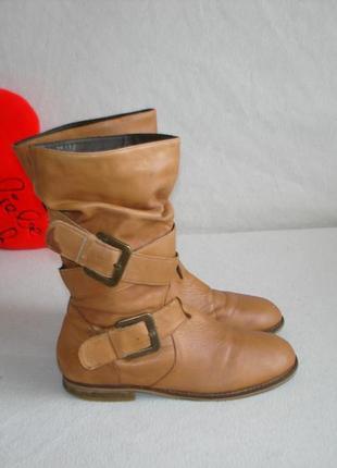 Сапожки полусапожки кожаные бренд echtes leder
