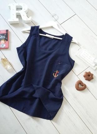 Старт огромных скидок! блуза майка от бельгийского дизайнера с якорем