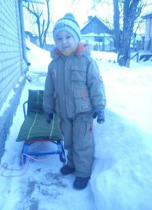 Зимний термо костюм на 4-5 лет