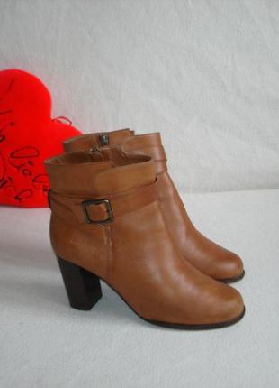 Ботинки ботильоны кожаные бренд clarks