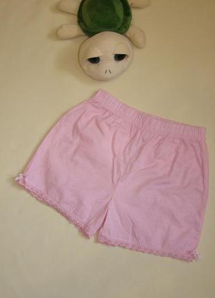 Розовые хлопковые шортики bhs 8-10 лет