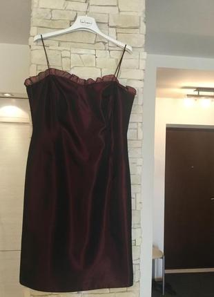 Вечернее платье на тонких бретельках с жакетом