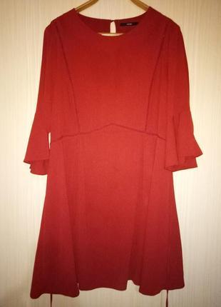 Платье миди туника 52 размера
