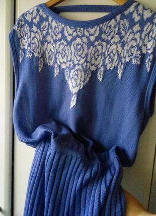 eb6bcd95065 ... Винтажное трикотажное платье с юбкой плиссе.италия!4 фото