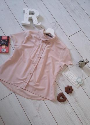Старт больших скидок! стильная укороченная блуза в нюдово-розовом цвете.