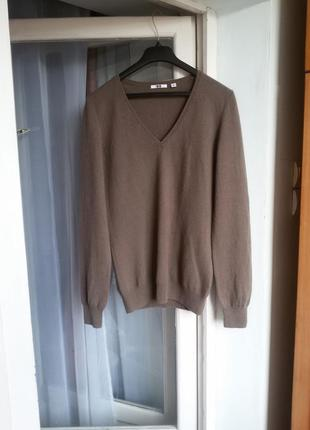 Кашемировый свитер uniqlo 100% кашемир