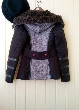 Xs/s роскошная твидовая шерстяная куртка пальто с утеплением